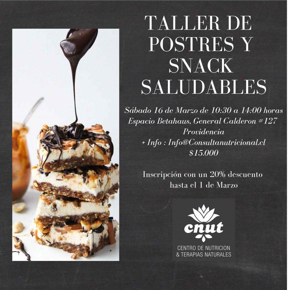 """Taller de """"Postres y Snack Saludables"""""""